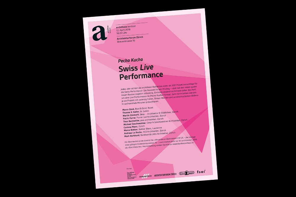 Archithese Swiss Live Performance